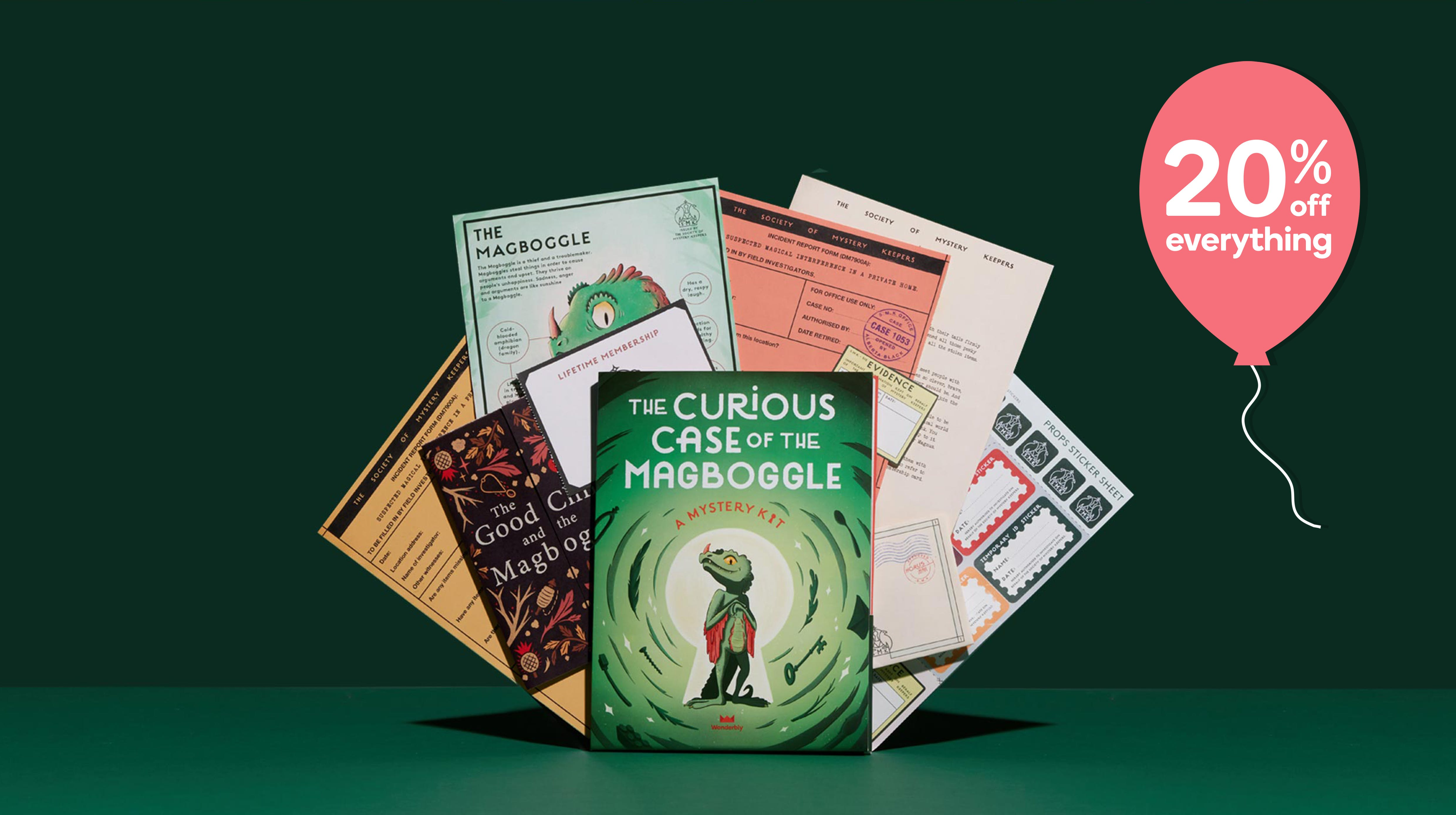 The Curious Case of the Magboggle – A Wonderbly Mystery Kit