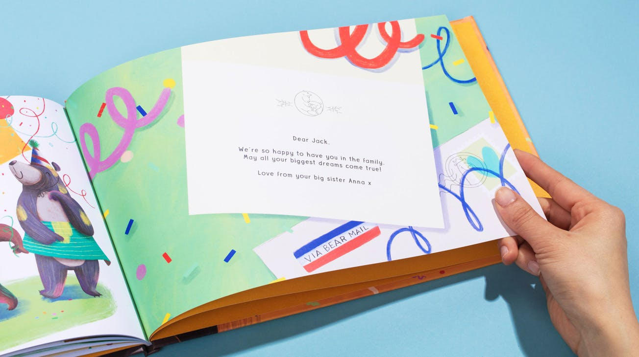 Image of the personalized letter at the back of the book.