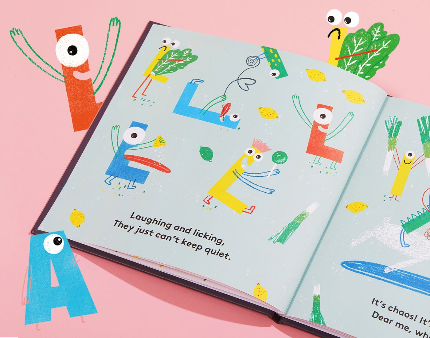 Inside spread of My Little Monster Book