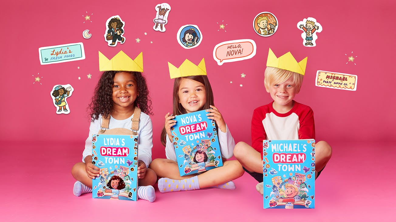DTS kids with crowns